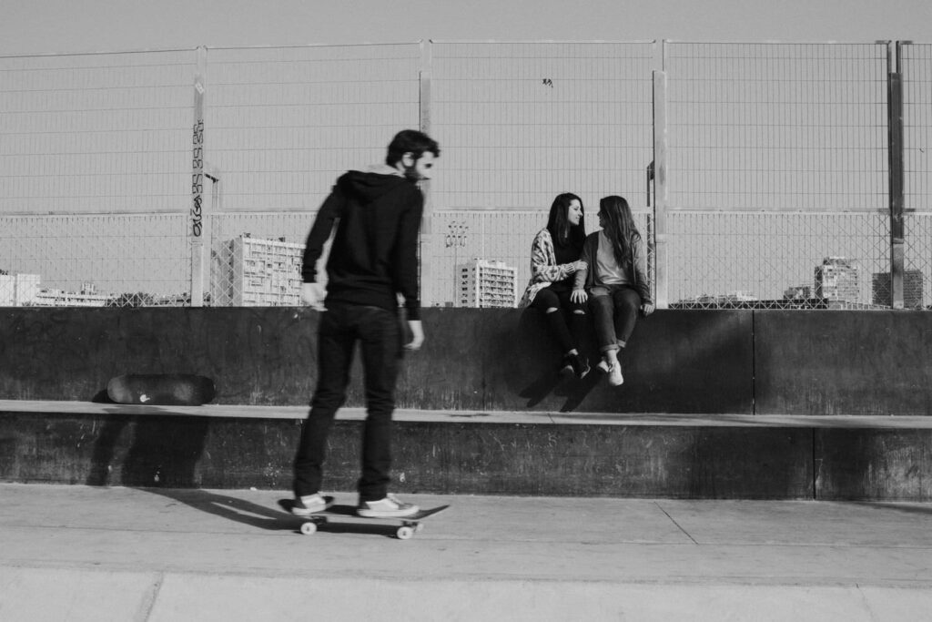 Skateboarder engagement session in Barcelona 0397